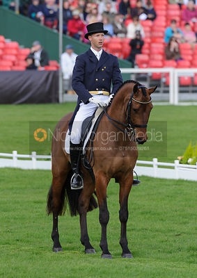 Clark Montgomery and UNIVERSE - Dressage - Mitsubishi Motors Badminton Horse Trials 2013.