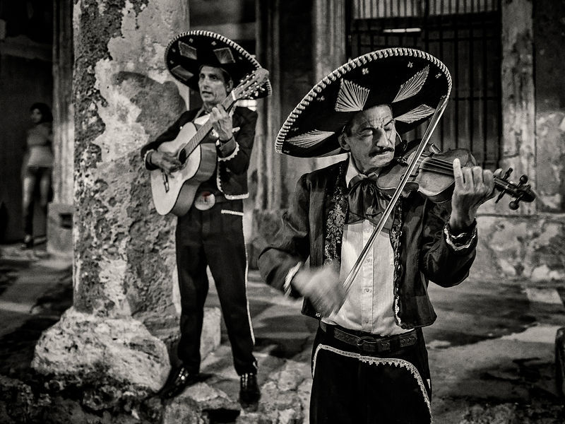 Mariachis on the Malecon at Night