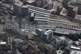 Leeds aerial photograph of Leeds railway station and Princes Square developments