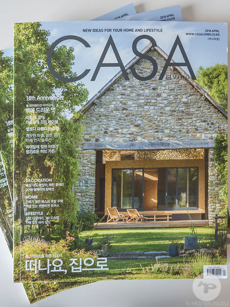 Architecture photographer - La Cabane project in Casa Living Magazine - Publication : Cover Shot and 11 pages. Architect : De...