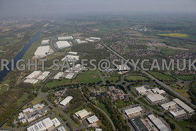Runcorn high level view of Manor Park Industrial and Business Parks