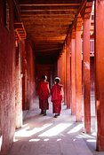 Buddhist monks in a monastery, Upper Mustang, Nepal
