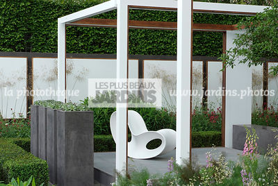 Chair, Container, Digital, Garden furniture, Pergola, Pot, Resting area, sempervivum, Terrace, Contemporary Terrace