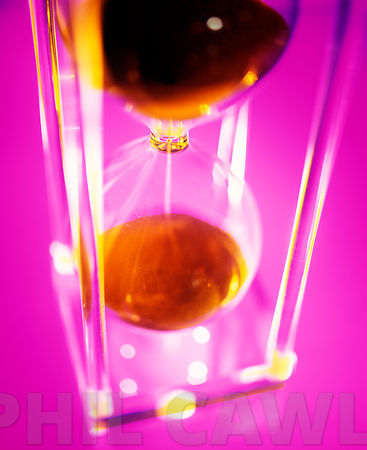 Abstract Modern Perspex Hourglass Timer