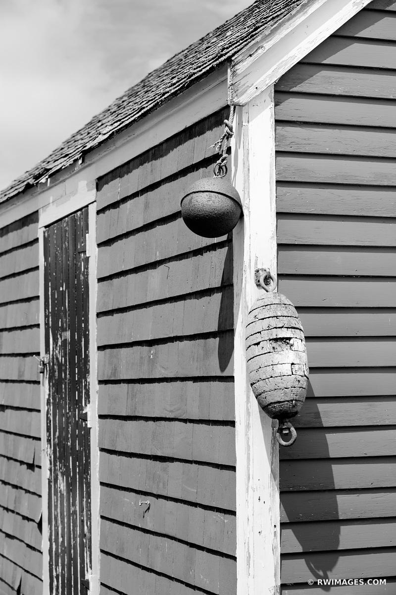 OLD FISHING SHACK GLOUCESTER CAPE ANN MASSACHUSETTS BLACK AND WHITE VERTICAL