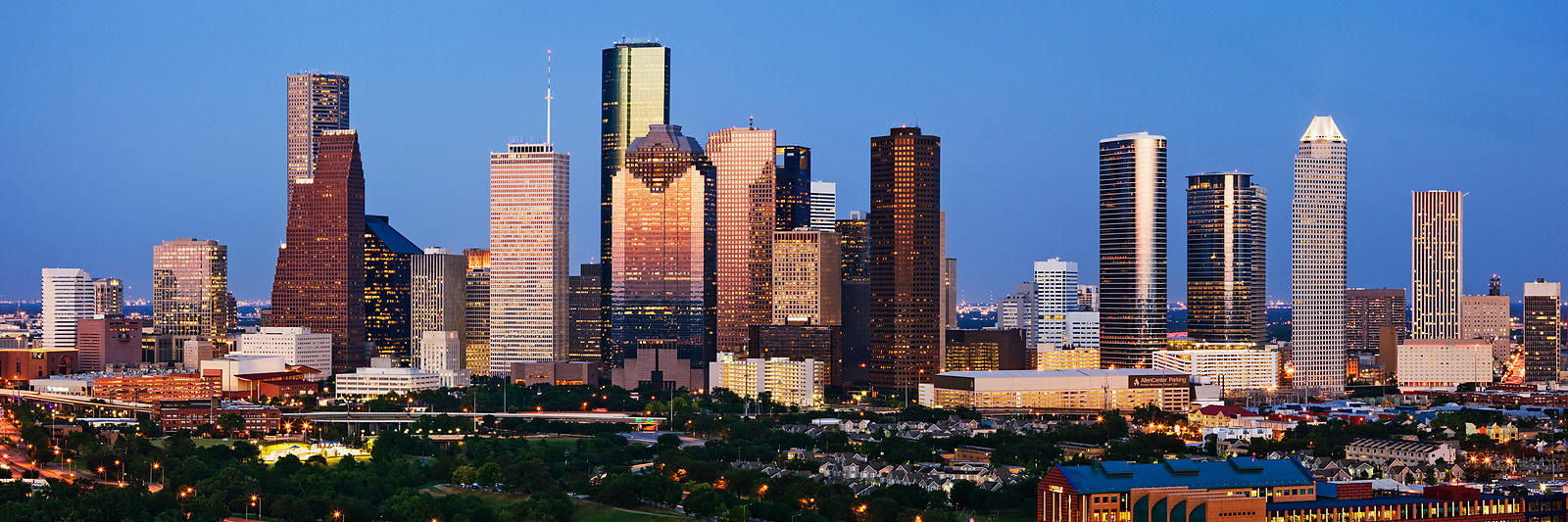 Houston Skyline at Dusk