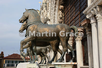 The four horses of St Mark, Basilica San Marco (St Mark's Basilica), Venice, Italy: Image 1 of 4