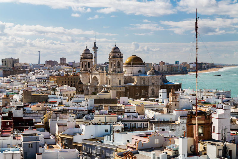 Skyline of Cádiz and the Cádiz Cathedral