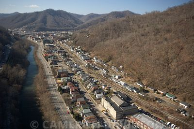 Aerial photograph of Logan, West Virginia