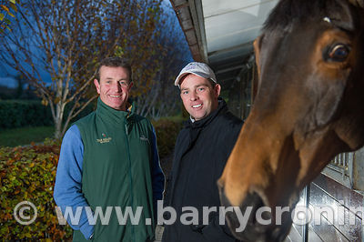 Features / Showjumpers Cian O'Connor and John Floody.