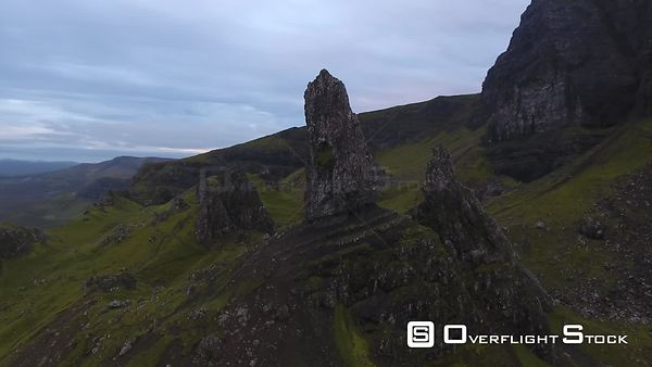 Old Man Storr on the Isle of Skye Drone Video Highlands  Scotland