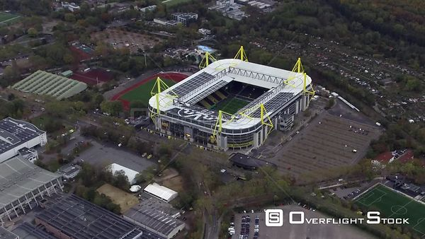 Sports grounds grounds of the stadium arena in Dortmund in the state of North Rhine-Westphalia