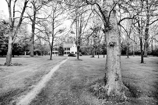 SCHUYLER HOUSE SARATOGA NATIONAL HISTORICAL PARK NEW YORK BLACK AND WHITE