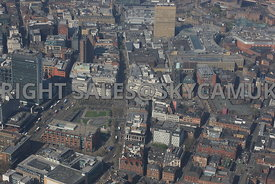 Piccadilly Gardens and the Northern Quarter of Manchester