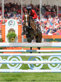Harry Meade and WILD LONE - show jumping phase,  Mitsubishi Motors Badminton Horse Trials, 6th May 2013.