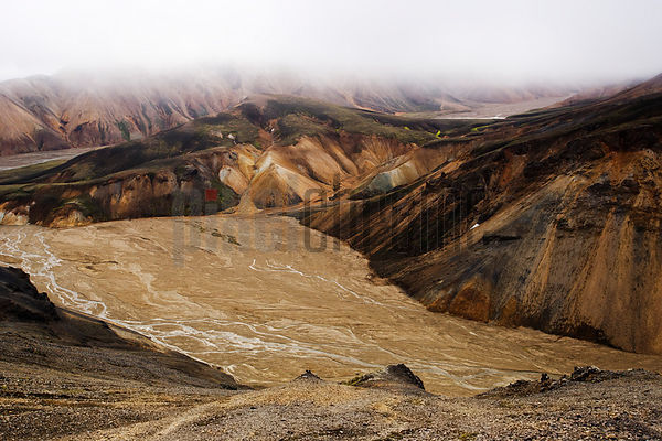 Braided River in Landmannalaugar, Iceland