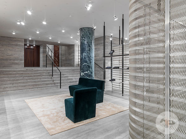 Retail architecture photographer Paris - Brioni Saint Honore, Paris. Photo ©Kristen Pelou