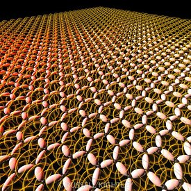 Image of Graphene molecule pi orbitals