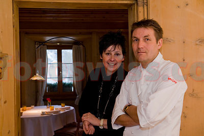 Daniel and Ingrid Bumann Restaurant Chesa Pirani La Punt Engadine