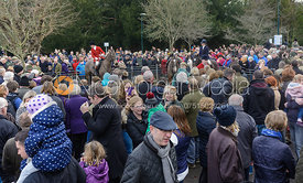 Crowds attend the Cottesmore Hunt's Boxing Day meet