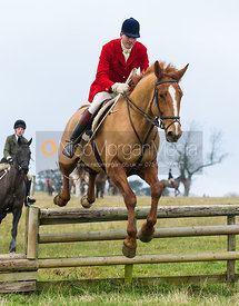 Ashley Bealby jumping a hunt jump - The Cottesmore Hunt at Burrough House 18/12