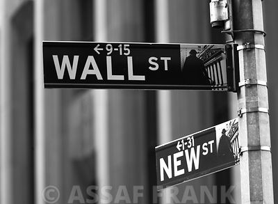 Wall street sign - New York city
