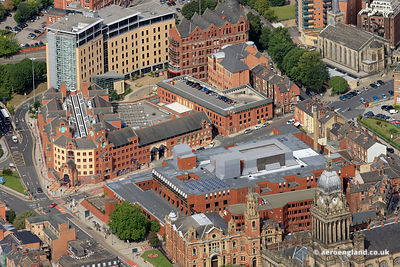 aerial photograph of Leeds Combined Court Centre, The Courthouse 1 Oxford Row Leeds West Yorkshire LS1 3BG including the Magi...
