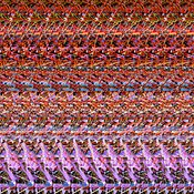 AUTOSTEREOGRAM DNA Abstract Curves #38 1