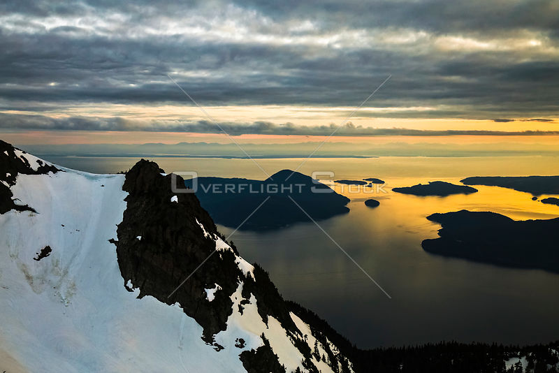Sunset Howe Sound Islands and Coastal Mountains