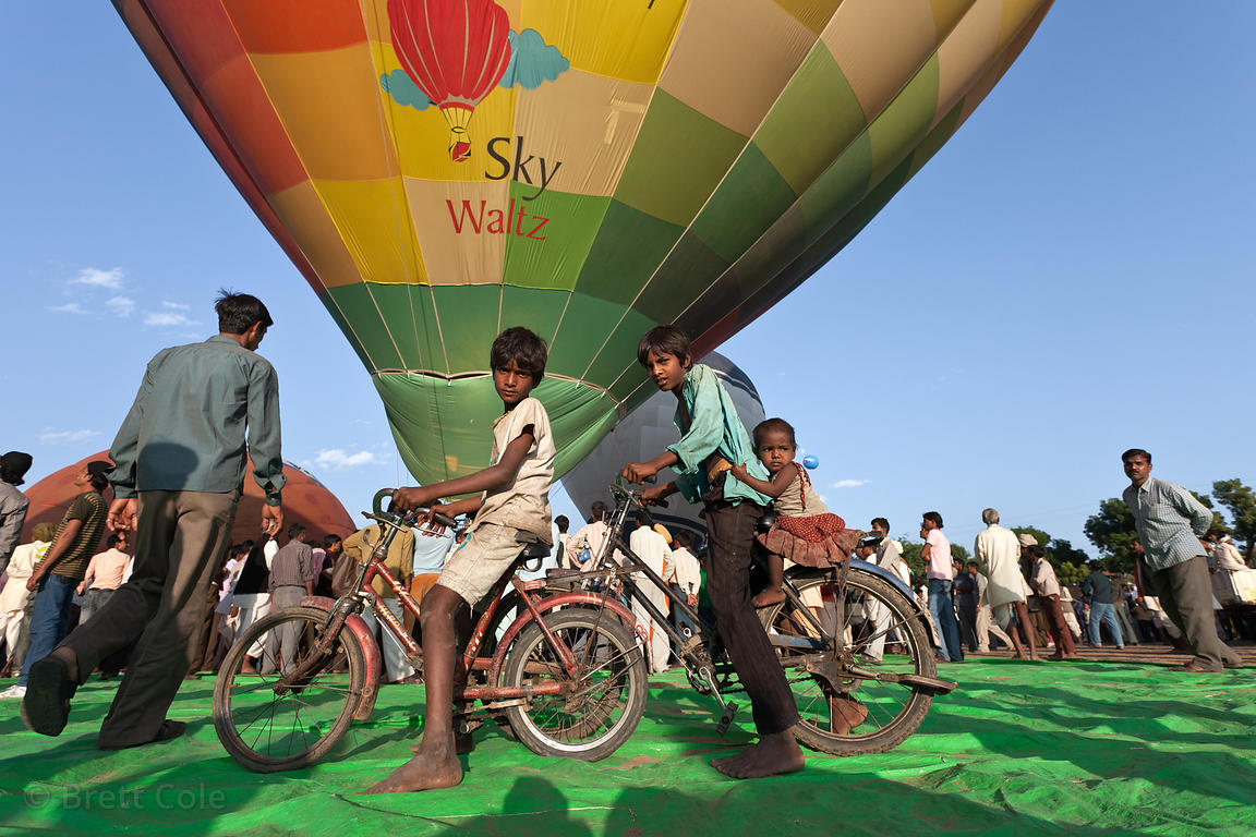 Hot air balloons at the 2010 Pushkar Camel Fair, Rajasthan, India