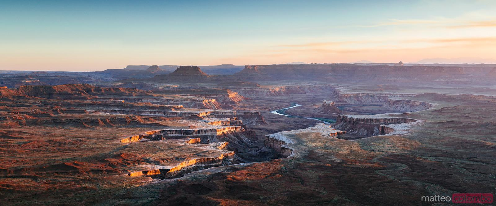Panoramic of Green river overlook, Canyonlands, USA