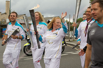 Paralympic Torch Bearers Running in Kilburn