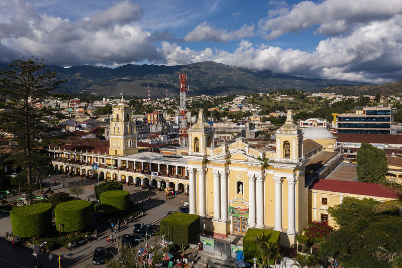 Elevated View of the Cathedral of Huehuetenango