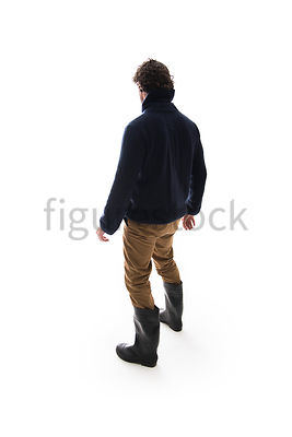 A Figurestock image of a mystery man in boots – shot from eye level.