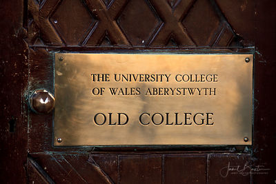 Nameplate, Old College, Aberystwyth