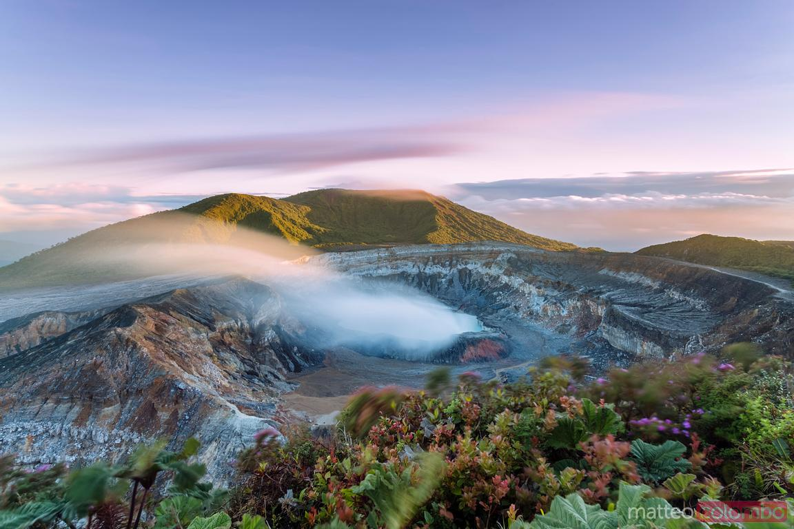 Poas volcano at sunrise, Alajuela, Costa Rica