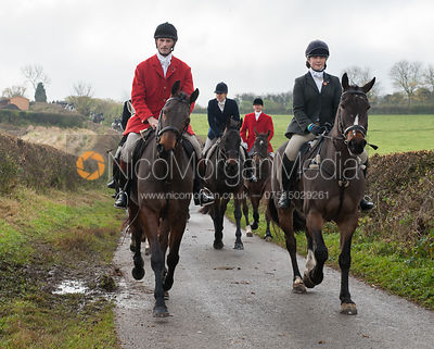 Alex Knott MFH and Alice Pegley - The Cottesmore Hunt at Tilton on the Hill 10/11/12