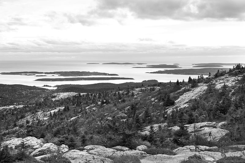 Acadia National Park Maine - Black and White Photos