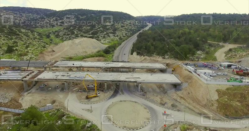 Large Highway Construction Project of Bridges and Tunnels in Israel