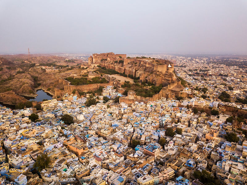 Aerial View of the Blue City of Jodhpur