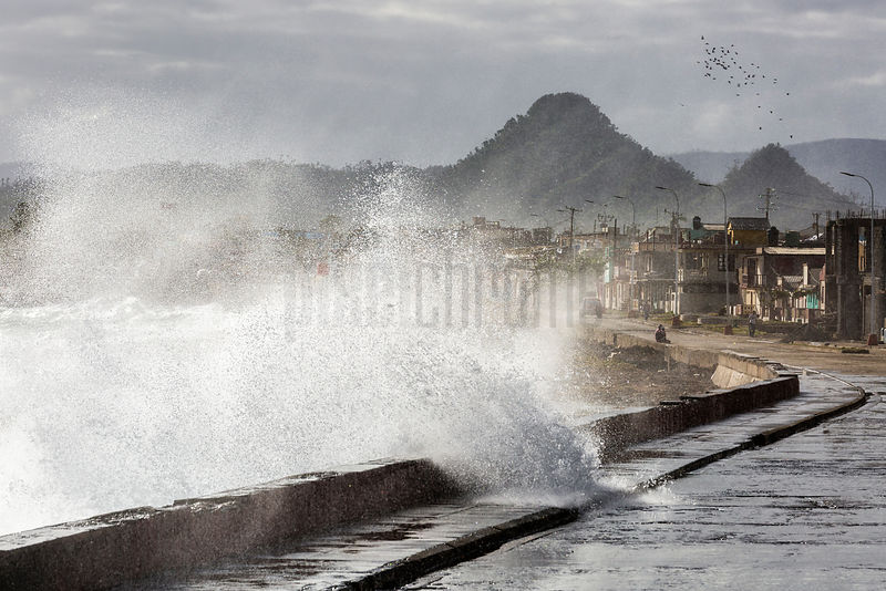 Waves Crashing over the Malecon in Baracoa