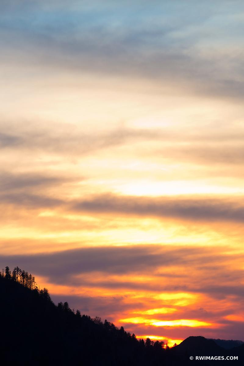 SUNSET MORTON OVERLOOK SMOKY MOUNTAINS COLOR VERTICAL
