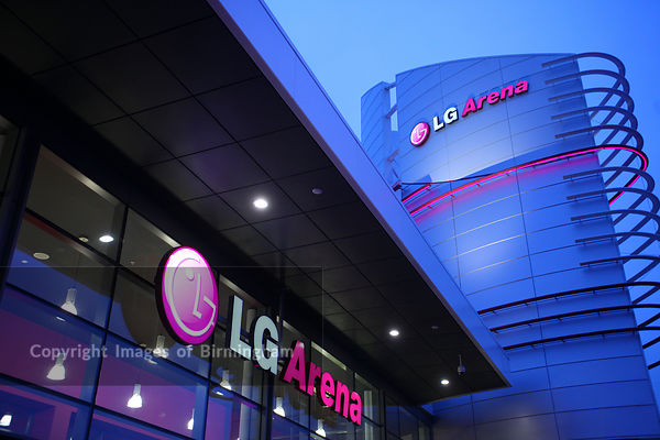 The LG Arena is the trading name of The National Exhibition Centre. Birmingham, England