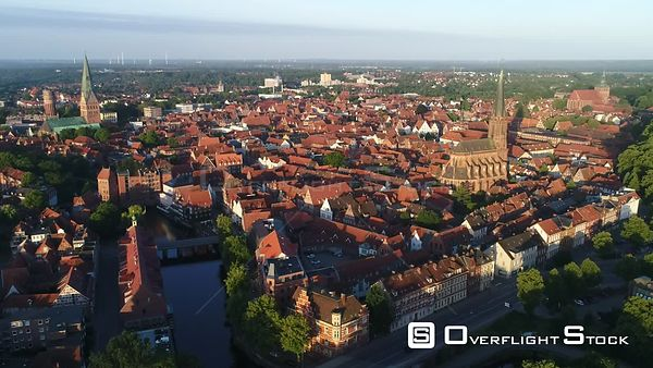 Old town in Lüneburg in the state of Lower Saxony