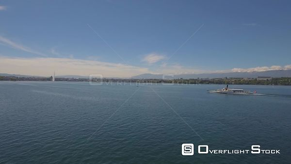 Lake Geneva, Switzerland Drone Footage