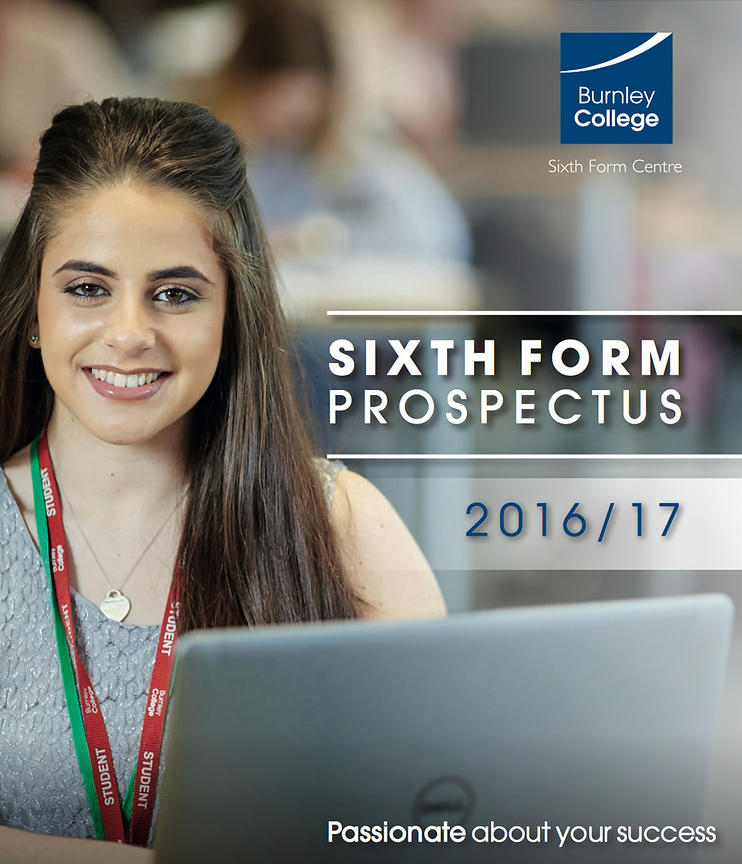 Burnley College front page prospectus