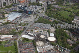 Rochdale aerial photograph of the Transco Gas works Church street looking towards Rochdale Sixth Form College