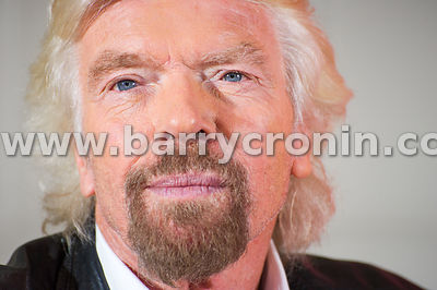 1st October, 2015. Virgin Group Founder Richard Branson with Magnus Tersnjö (CEO, UPC Ireland / Virgin Media Ireland) at the ...