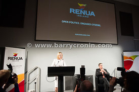 13th March, 2015.Lucinda Creighton launches her new political party RenuaIreland in the Science Gallery, Dublin.Pictured is L...