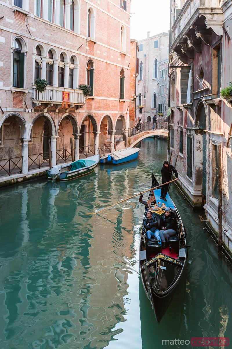 Typical gondola in Venice, Italy